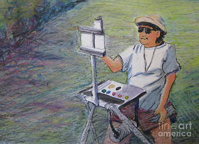 Painting - Plein-air Painter Bj by Gretchen Allen