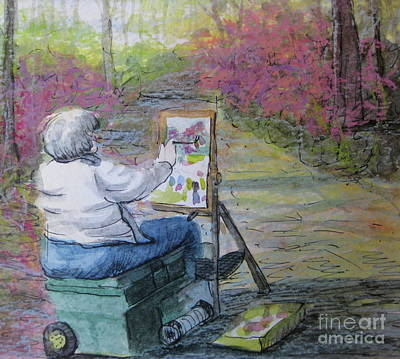 Painting - Plein-air Painter Lady by Gretchen Allen