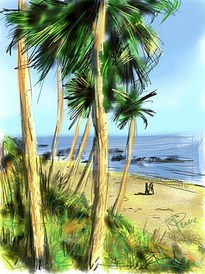 Digital Art - Plein Air Painter by Russell Pierce