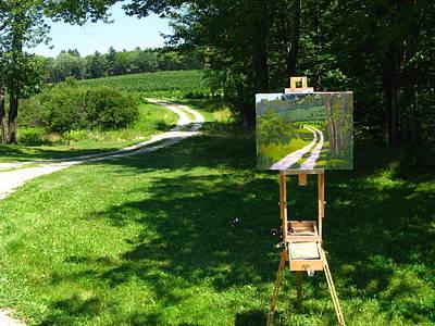 Wip Photograph - Plein Air Painter's Studio by Bill Tomsa