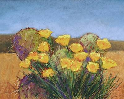 Wall Art - Pastel - Plein Air Poppies by Candy Mayer