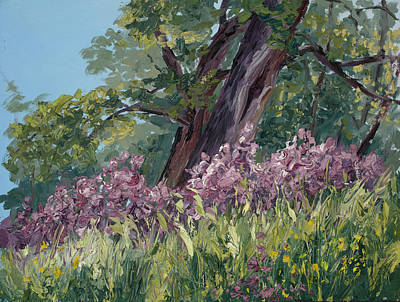 Plein Air Purple Original by Mary Giacomini