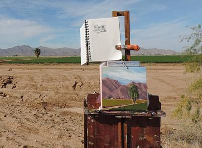 Painting - Plein Air Setup by Bill Tomsa