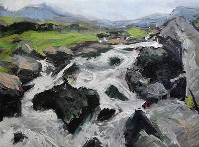 Painting - Plein Air Sketch In Snowdonia by Harry Robertson