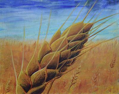 Konza Prairie Painting - Plentiful Harvest by Lisa DuBois