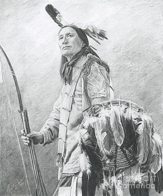 Drawing - Taopi Ota - Lakota Sioux by Brandy Woods