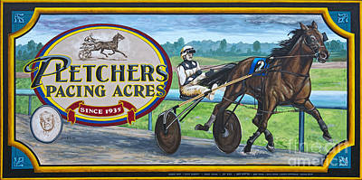 Photograph - Pletchers Racing Mural Shipshewana by David Arment