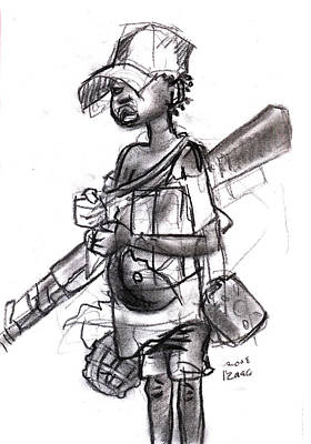 Plight Of A Child Soldier Art Print by Okwir Isaac