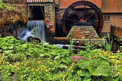 Plimouth Grist Mill Art Print