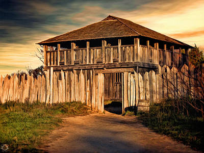 16th Century Photograph - Plimouth Plantation  Meeting House by Lourry Legarde
