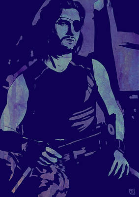 Brown Snake Drawing - Plissken by Giuseppe Cristiano