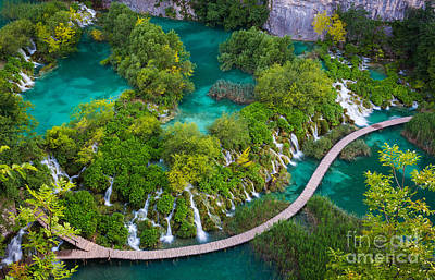 Plitvice Boardwalk Art Print