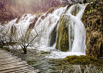 Photograph - Plitvice Cascades by Heather Applegate