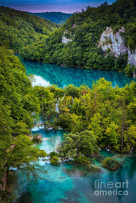 Plitvice Twilight Art Print