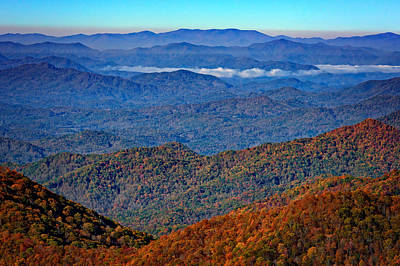 Asheville Photograph - Plott Balsam Overlook In Autumn by Rick Berk