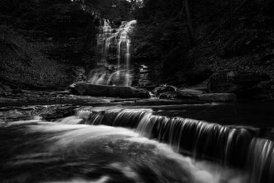 Photograph - Plotter Kill Falls by Brad Wenskoski