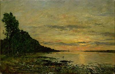 Boudin Painting - Plougastel Daoulas by Eugene Louis Boudin