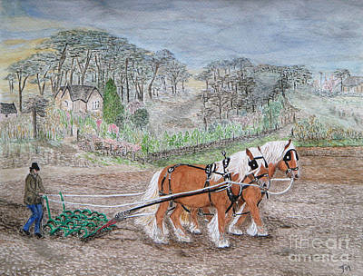 Painting - Plough Horses by Yvonne Johnstone