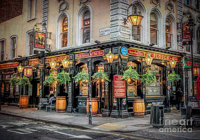 Signed Digital Art - Plough Pub London by Adrian Evans