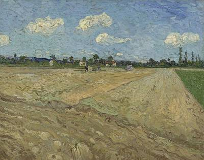 Painting - Ploughed Fields 'the Furrows Arles September 1888 Vincent Van Gogh 1853  1890 by Artistic Panda