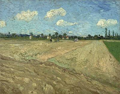 Painting - Ploughed Fields The Furrows by Artistic Panda