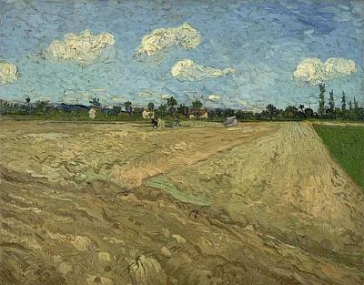 Painting - Ploughed Fields The Furrows   At Wheat Fields   Van Gogh Series   By Vincent Van Gogh by Artistic Panda