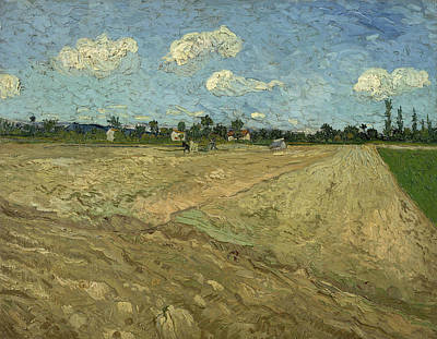Ploughed Fields Print by Vincent van Gogh