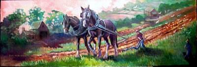 Painting - Ploughing by Paul Weerasekera