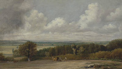 Painting - Ploughing Scene In Suffolk by John Constable