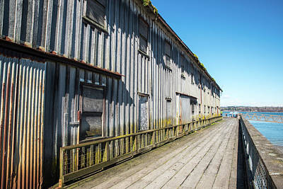 Photograph - Plover Dock Perspective by Tom Cochran
