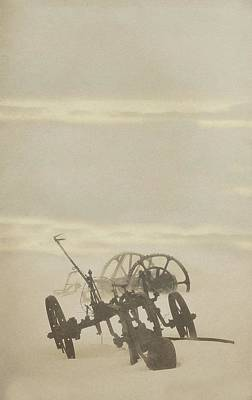 Photograph - Plow In Blizzard by Amanda Smith