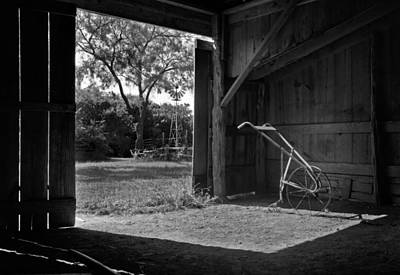 Plow Photograph - Plow Is In The Barn by David and Carol Kelly