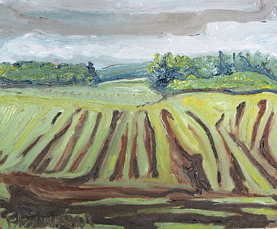 Eastern Townships Painting - Plowed by Francois Fournier
