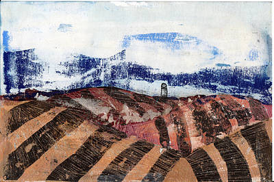 Mixed Media - Plowed Spring by Jame Hayes