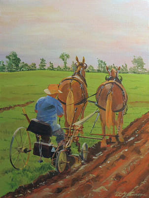 Painting - Plowing Match by David Gilmore