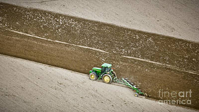 Tractor Photograph - Plowing by Patrick M Lynch