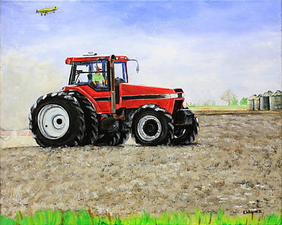 Painting - Plowing The Field by Karl Wagner