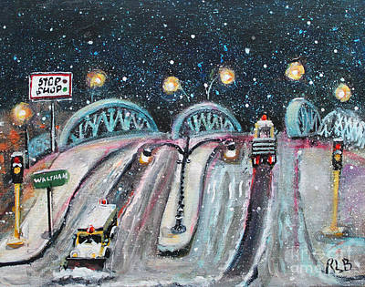 Ma. Mass Painting - Plowing The Green Bridge by Rita Brown