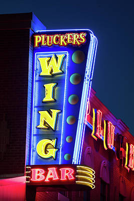 Photograph - Pluckers Neon 070218 by Rospotte Photography
