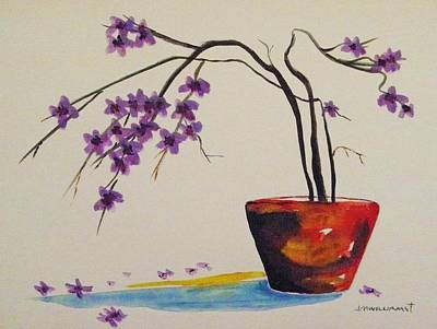 Painting - Plum And Raku by John Williams