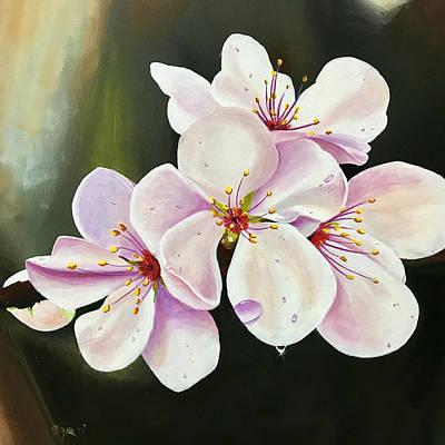 Sakura Painting - Plum Blossom 2  by Aarti Bartake