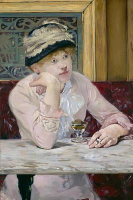 Brandy Painting - Plum Brandy by Edouard Manet