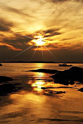 Plum Cove Beach Sunset E Art Print by Joe Faherty