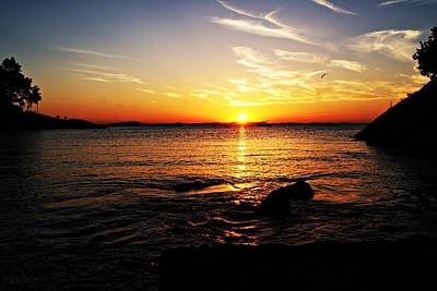 Plum Cove Beach Sunset G Art Print by Joe Faherty