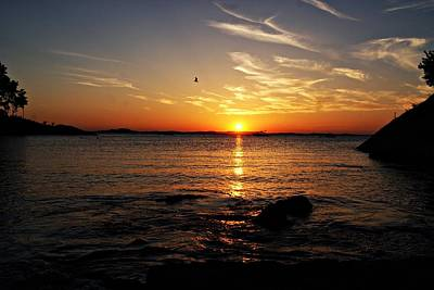 Photograph - Plum Cove Beach Sunset H by Joe Faherty