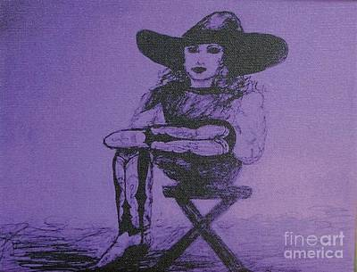 Drawing - Plum Cowgirl by Susan Gahr