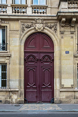 Photograph - Plum Door - Paris, France by Melanie Alexandra Price