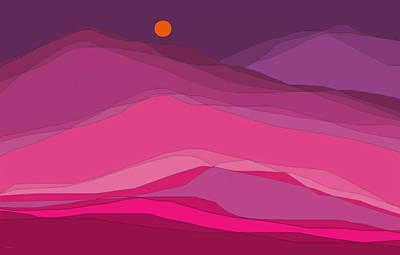 Digital Art - Plum Hills by Val Arie