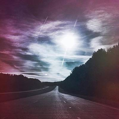 Travel Photograph - Plum Horizons #hwytravels by Joan McCool