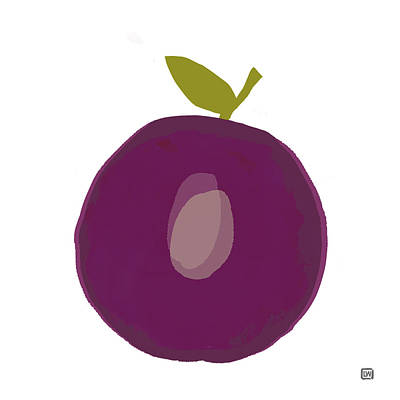 Painting - Plum II by Lisa Weedn
